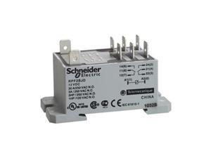 SCHNEIDER ELECTRIC RPF2AF7 Enclosed Power Relay,6Pin,120VAC,DPST-NO