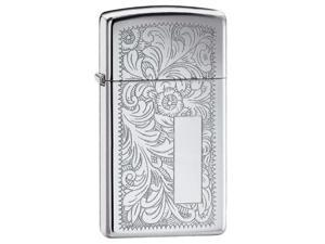 Zippo 1652 Windproof Slim Venetian High Polish Chrome Lighter
