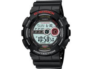 Casio Mens G-Shock X-Large Stainless Watch - Black Rubber Strap - Black Dial - GD100-1A