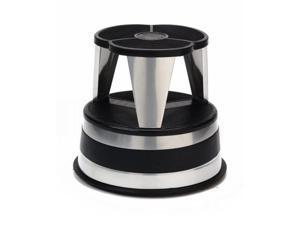 "Cramer Kik-Step Steel Step Stool 350 lb cap 16"" dia. x 14 1/4h Silver 100101"