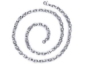 Effortless Flair: Mens Stainless Steel Belcher Link 20 InchChain Necklace