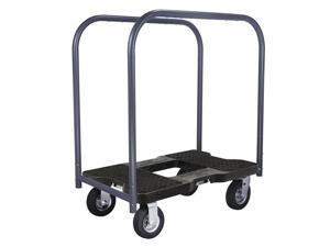 Snap-Loc 1500 Lb Air-Ride Professional E-Track Panel Cart Dolly Black, Safely Moves More In Less Time With Easy Rolling Casters, Removeable Panel Bars, Optional E-Strap Safety Attachment! SL1500PC6AB