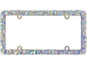 Cruiser Accessories 16130 Dazzle, Chrome License Plate Frame