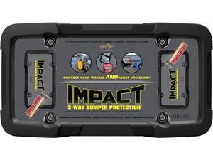 Cruiser Accessories 65510 Impact, Black/Clear License Plate Frame & Shield