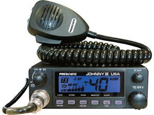 President Electronics - JOHNNY III - President - 12-24 Volt 40 Channel Mobile Cb Radio With Selectable 3 Color Front