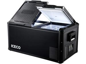 ICECO VL90 Pro Series Portable Refrigerator, Multi-directional Lid, Dual USB & DC 12/24V, AC 110-240V, Steel Compact Refrigerator Powered by SECOP, 0F to 50F, Home & Car Use [Upgrade]