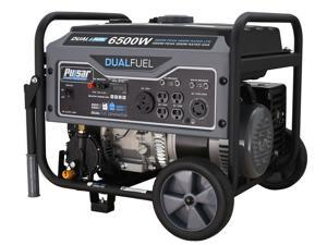 Pulsar G65BN Portable Gas/LPG Dual Fuel Generator - 5500 Rated Watts & 6500 Peak Watts - RV Ready - CARB Compliant