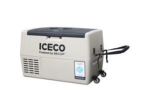 ICECO TR45 Portable Refrigerator, 45 Liter, DC 12/24V, AC 100-240V, Fridge Freezer Cooler, For Outdoor and Home, For Car, Truck, Vehicle, Van, Camping, Picnic, 0° to 50° (khaki)