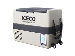 ICECO TR60 Portable Refrigerator, 60 Liter, DC 12/24 V, AC 100-240V, Fridge Freezer Cooler, For Outdoor and Home, For Car, Truck, Vehicle, Van, Camping, Picnic, 0° to 50° (khaki)