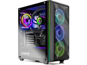 Skytech Chronos Gaming PC Desktop - AMD Ryzen 7 3700X 3.6GHz, Nvidia GeForce RTX 3080 10GB GDDR6X, 16GB DDR4 3200, 1TB SSD, 750W Gold PSU, 240MM AIO, AC WiFi, Windows 10 Home 64-bit, Black