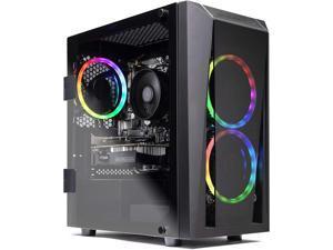 SkyTech Blaze II Gaming Computer PC Desktop - Ryzen 5 3600 6-Core 3.6GHz, GTX 1660 6G, 500G SSD, 16GB DDR4 3000, RGB, AC WiFi, Windows 10 Home 64-bit