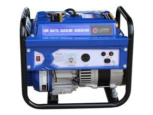 Green-Power America Gasoline Generator Consumer Select Series GPD1500 delivers 1500 watts of starting power and 1200 watts of continious power.