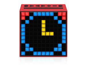Divoom Timebox Smart Portable Bluetooth LED Speaker with APP-Controlled Pixel Art Animation, Notification and Build- In Clock/ Alarm - Red