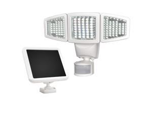 Sunforce 120 LED Triple Head Solar Powered Motion Activated 1000 Lms Flood Light