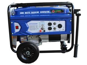 Green-Power America Gasoline Generator Consumer's Select Series GPD5000W delivers 5000 watts of starting power and 3850 watt of continious power.