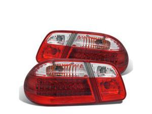 CG MBZ E CLASS W210 95-03 LED TAILLIGHT RED/CLEAR (WAVE) 03-MBZE95LEDG2 PAIR