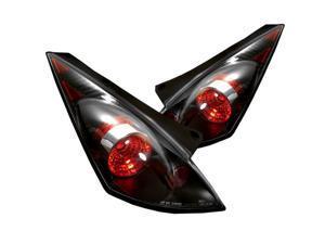 Spyder Auto 5006684 Euro Style Tail Lights; Uses Stock Bulbs; Pair; Black;