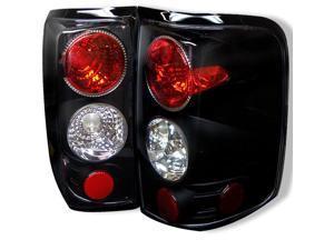 Spyder Auto 5003195 Euro Style Tail Lights; Uses Stock Bulbs; Pair; Black;