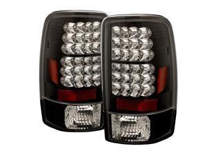 Spyder Auto 5001528 LED Tail Lights; Uses Stock Bulbs; Pair; Black;