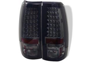 Spyder Auto 5002082 LED Tail Lights; Uses Stock Bulbs; Pair; Smoke;