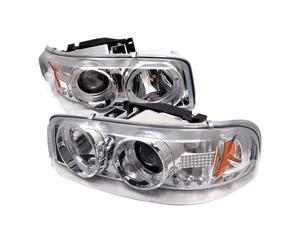 Spyder Auto GMC Sierra 1500/2500/3500 99-06 / GMC Sierra Denali 02-07 / GMC Yukon/Yukon Denali/Yukon XL 00-06 Halo LED ( Replaceable LEDs ) Projector Headlights - Chrome PRO-YD-CDE00-HL-C