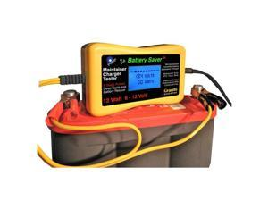 Battery Saver Battery Charger, Maintainer, Tester & Cleaner - (6 & 12 Volt) 12 Watt 1200-Lcd