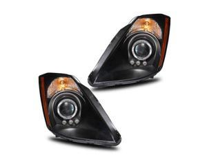 CG For Nissan 350Z 03-07 Projector Headlight Halo Black Clear Amber