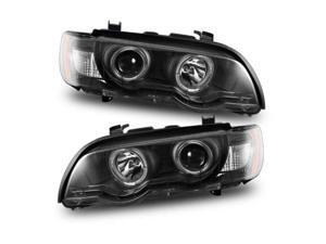 CG BMW X5 E53 00-03 Projector Headlight Halo Black Clear Amber