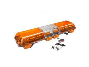 Wolo Manufacturing 7000-A Halogen Emergency Warning Light Bar - Amber Lens, Roof Mount