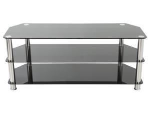 "AVF SDC1250-A TV Stand for up to 60"" TVs, Black Glass, Chrome Legs"