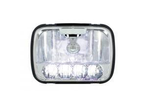 "United Pacific Industries 5 High Power LED 5"" x 7"" Crystal Headlight - High and Low Beam Headlight 31297"