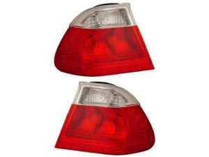 CG BMW 3 Series E36 92-98 4 Dr Tail Light Red//Clear Pair