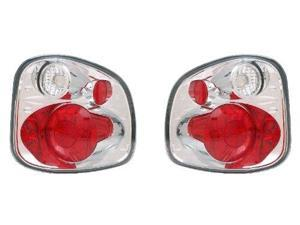 CG FORD F-SERIES FLARE SIDE 97-03 TAILLIGHT VERSION 2 CHROME 03-FFS9701TLAG2 PAIR
