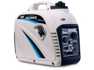Pulsar PG2300iS USB & Parallel Capability 2,300W Portable Gas-Powered Quiet Inverter Generator with USB, 2300W White