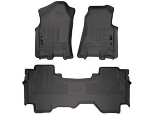 Husky Liners Weatherbeater Series Front & 2nd Seat Floor Liners For 2019 Dodge Ram 1500 Quad Cab Pickup, 2019 Ram 1500 Quad Cab Pickup 94011