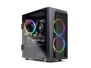 SkyTech Blaze II Gaming Computer PC Desktop – Ryzen 5 2600 6-Core 3.4 GHz, NVIDIA GeForce GTX 1650 4G, 500G SSD, 8GB DDR4, RGB, AC WiFi, Windows 10 Home 64-bit