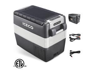 ICECO JP50 12v Portable Freezer Fridge Cooler, 53 Quart (50 Liter) Compact Refrigerator, DC 12/24 V, AC 100-240V, For CAR, Truck, Vehicle, Van, Outdoor, Camping, Picnic, 0?~50?