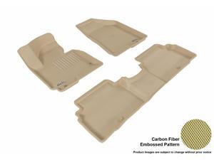 For Cadillac CTS 09-13 3D MAXpider Classic 2nd Row Black Floor Liners
