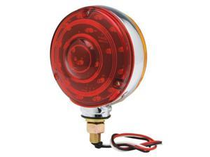 "TruckSpec TS3802/40LX LED 4"" Double-Face Stop/Turn Light Assembly, Red/Amber Bulk"