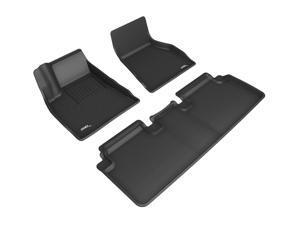 3D MAXpider L1TL01301509 TESLA MODEL S 2015-2020 KAGU BLACK R1 R2 FLOOR MAT