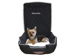 Seat Armour Black Pet2G100B Komfort2Go Car Pet Bed and Seat Cover