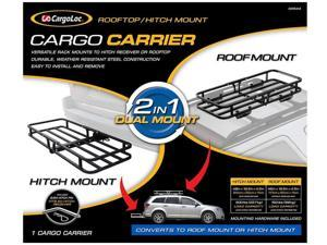 """CargoLoc 2-in-1 48"""" x 19.5"""" Hitch Mount and Roof Top Cargo Carrier 32534"""