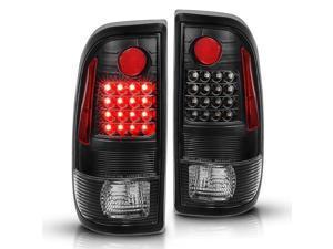 CG TailLights Ford F150/F250 97-04 Styleside / Super Duty 99-07 Clear Lens Black Housing Black Led Reflector 03-FF97LEDJMG3 Set