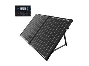 ACOPOWER 100W portable solar panel kit with waterproof 20A LCD charge controller  for Both Generator and 12V Battery for RV & Marine