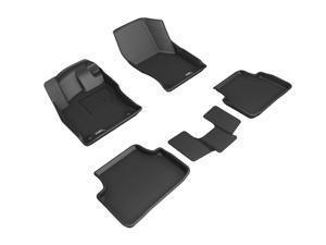 3D MAXpider L1VW10101509 For VOLKSWAGEN JETTA 2019-2020 KAGU BLACK R1 R2 (3PCS R2) FLOOR MAT
