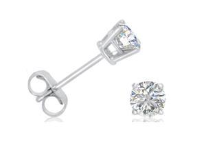 6770fd80f77eff AGS Certified 1/2ct tw.Round Diamond Stud Earrings set in 14K White Gold