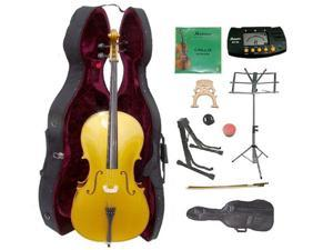 Crystalcello MC150GD 1/4 Size Gold Cello with Case