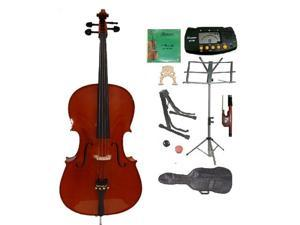 Crystalcello MC400 1/10 Size Ebony Cello with Bag and Bow.