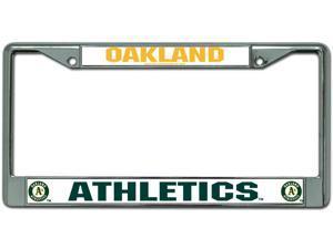 Oakland Athletics Chrome License Plate Frame