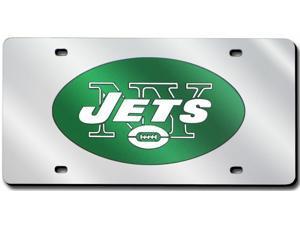 New York Jets Silver Laser License Plate